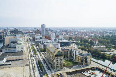 Flygbild över Kontorshuset Aura och Citadellsstaden